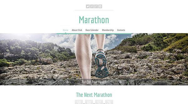 9. free html5 template marathon