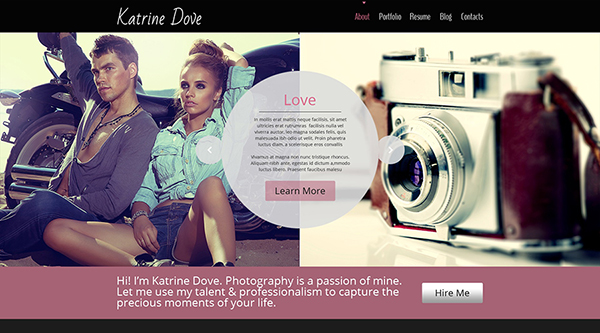 7. free photography website template