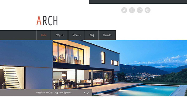 8. free html5 template for an architecture company