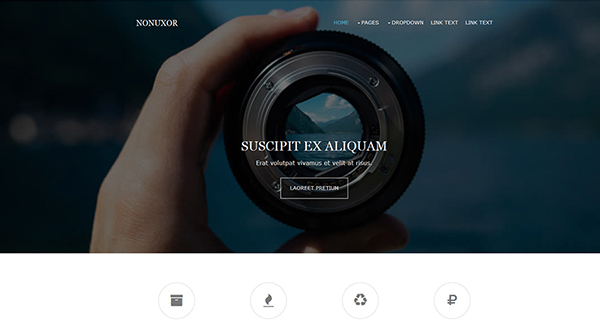 11. free html5 template - nonuxor