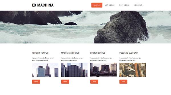 16. Ex Machina Responsive Free HTML5