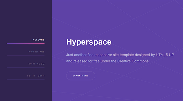 19. free html5 template - hyperspace