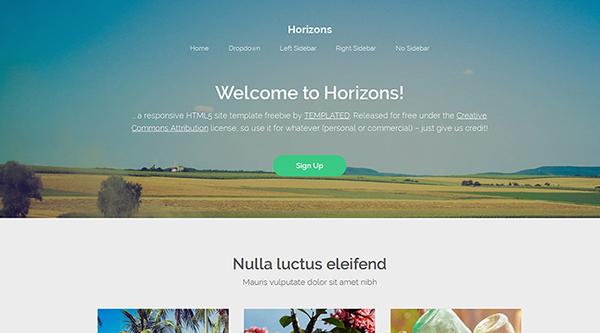 17. Horizons Free Responsive HTML5