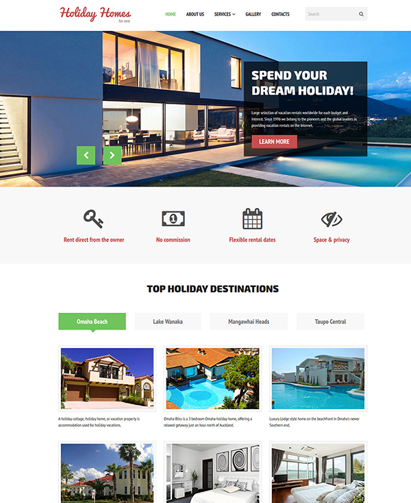 25. 1 website template for hotel website