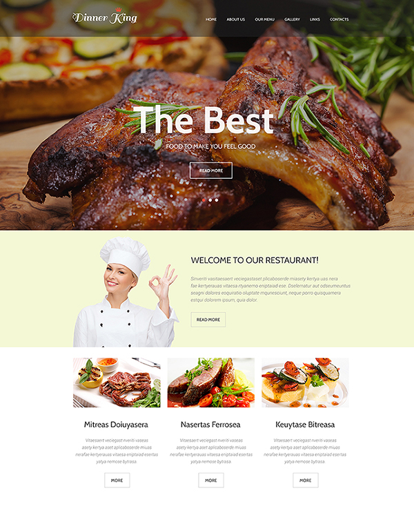 24.1. html5 website template to build a restaurant website