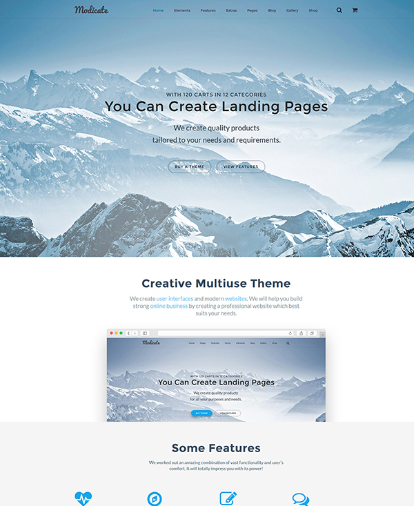 26. 1 landing page html5 template