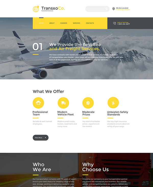 27. 1 html5 template to get your transport company online