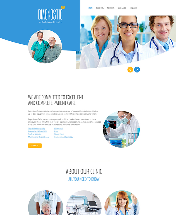 31. 1 medical html5 template