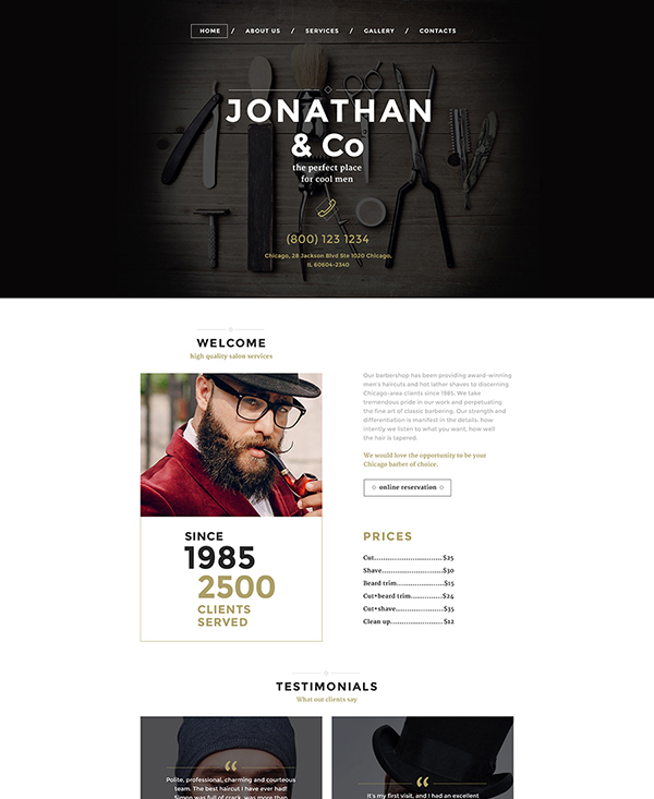 32. 1 stylish html5 template
