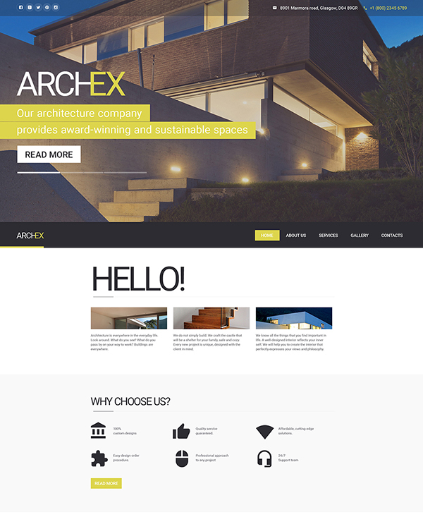 36. 1 architecture html5 website template