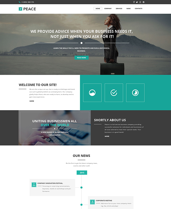 34. 1 business html5 template