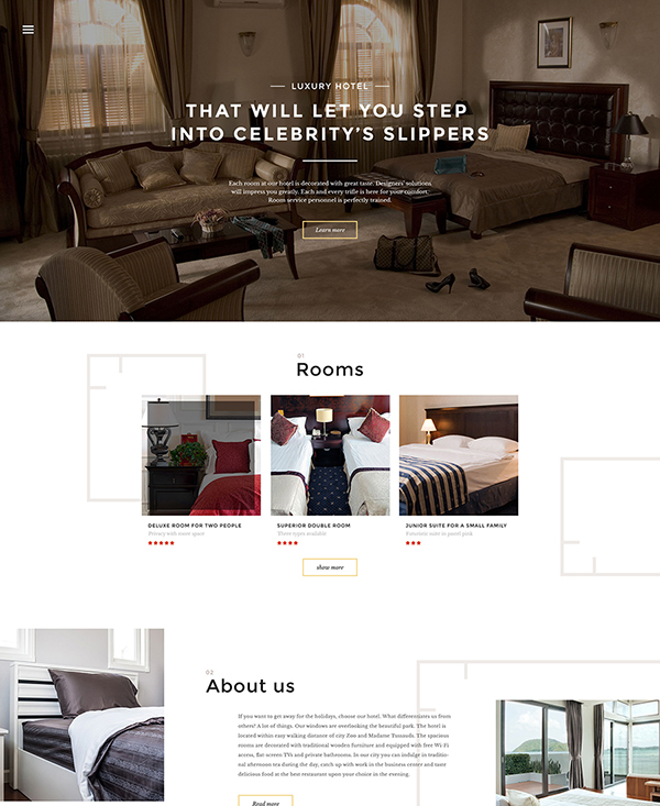 38. 1 html5 hotel template