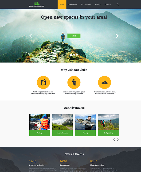 39. 1 html5 template for a sports website