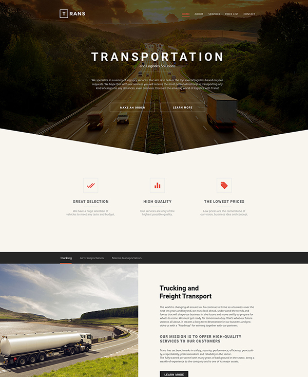 40. 1 transportation html5 template