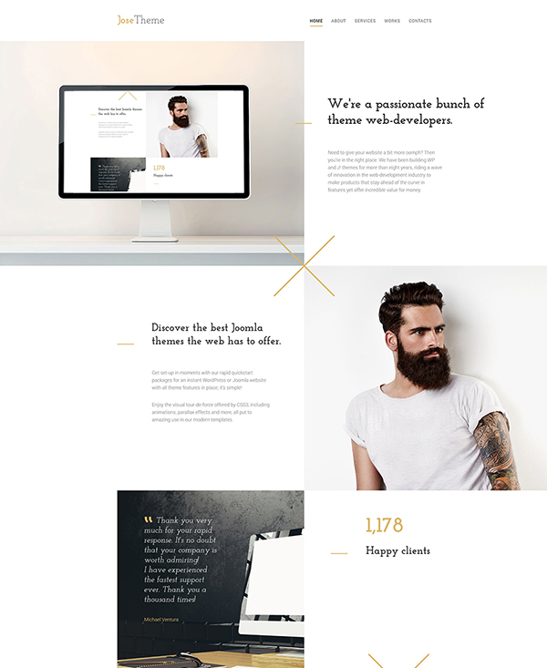42. 1 stylish html5 template