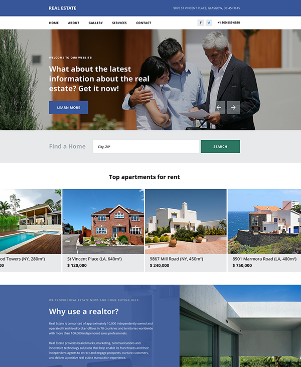 41. 1 real estate html5 template
