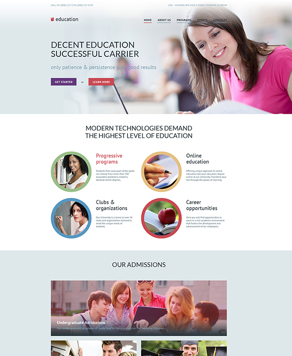 44. 1 educational html5 template