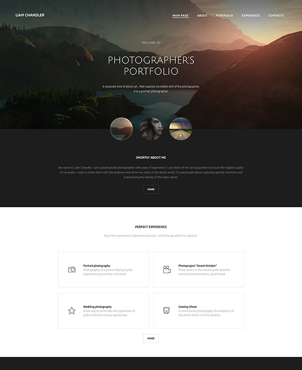 46. 1 html5 template for a photographers portfolio