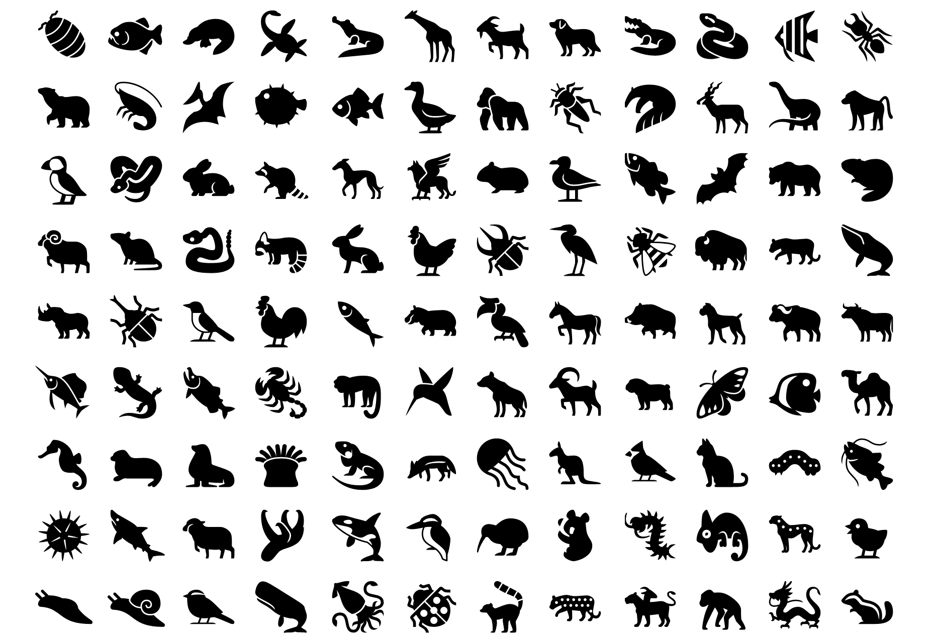Animals Vector iPhone Icons Set