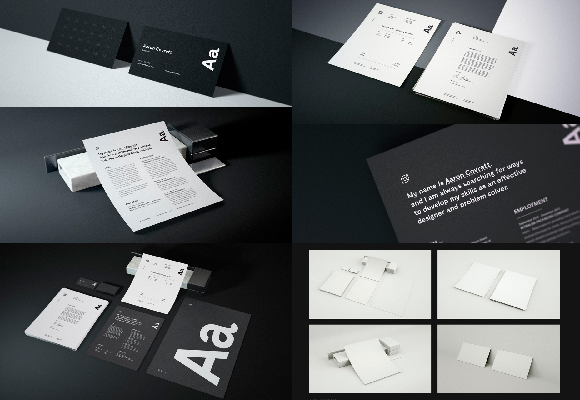 Granite: PSD Stationary Mockups Bundle