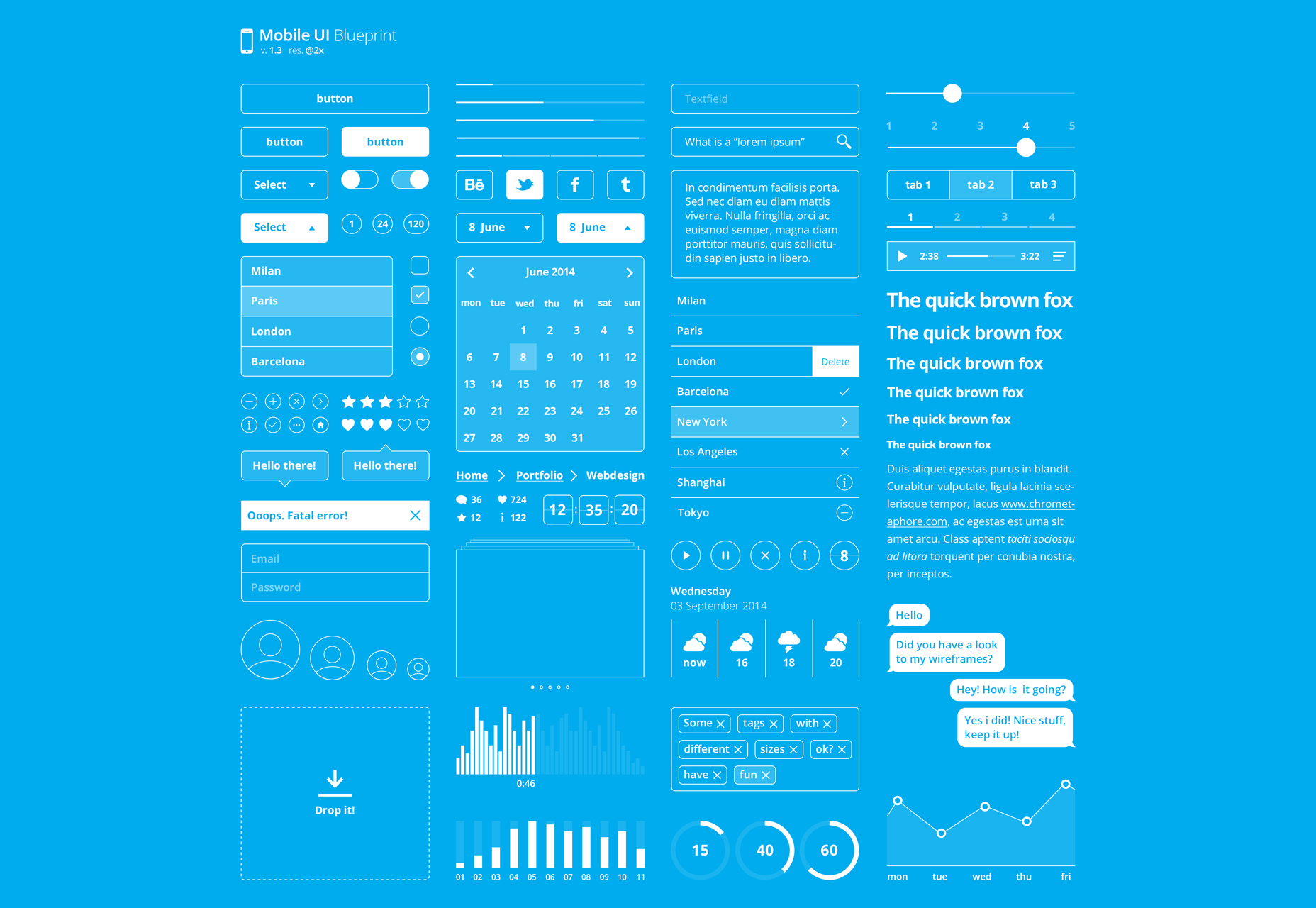 Blueprint: Minimal Mobile PSD UI Kit