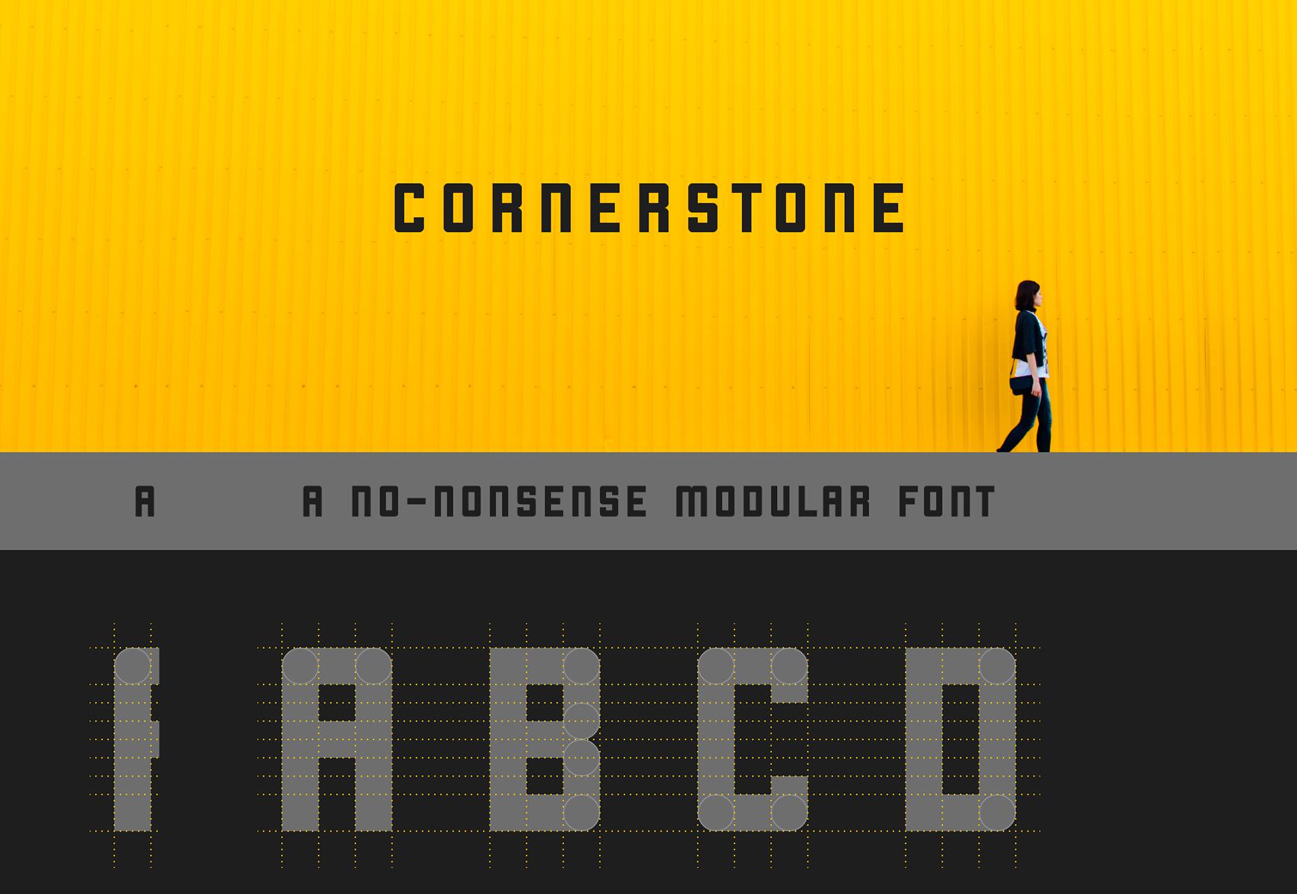 Cornerstone: A Circle Corner Sans Font