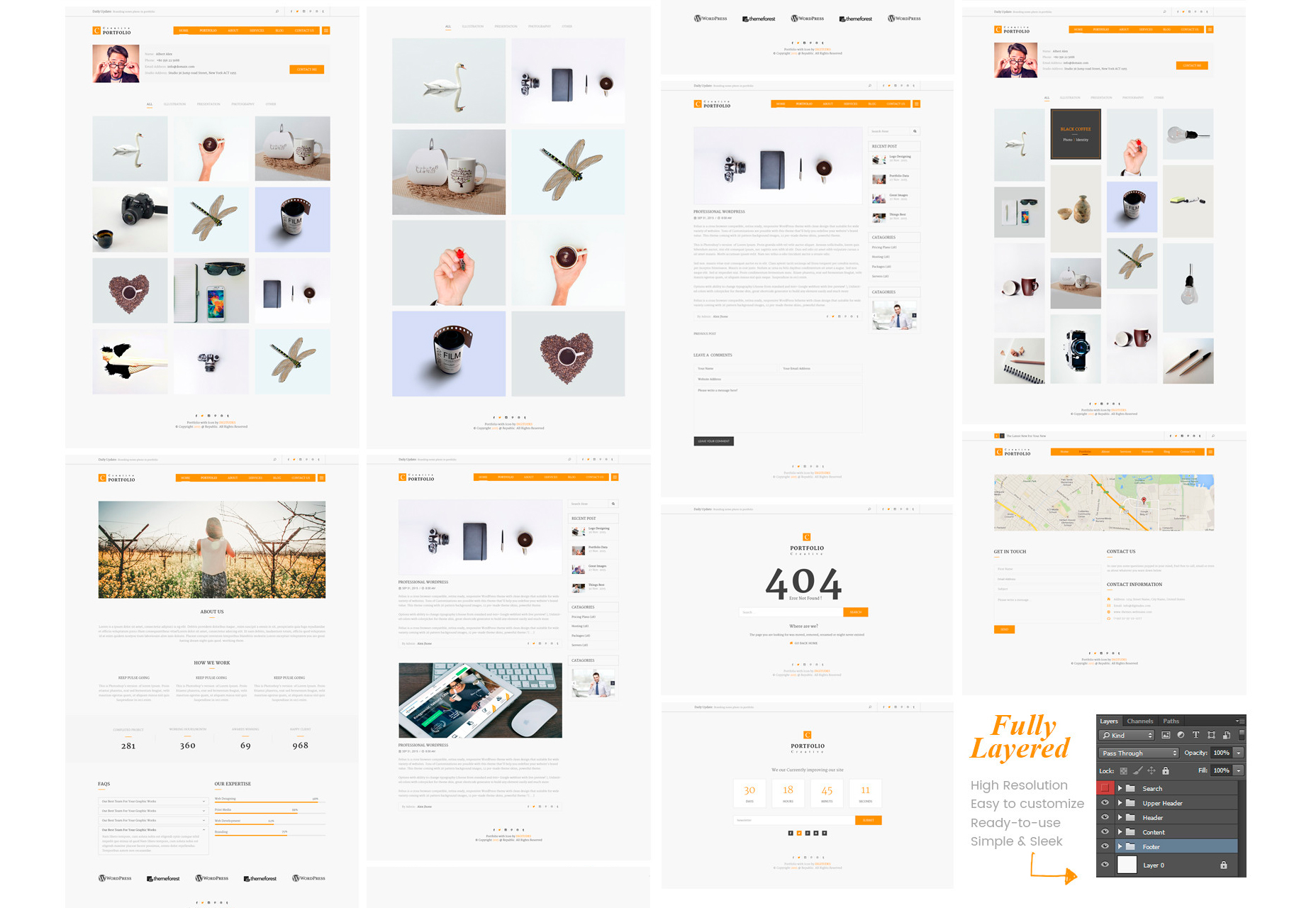 Creative Flat Portfolio PSD Template