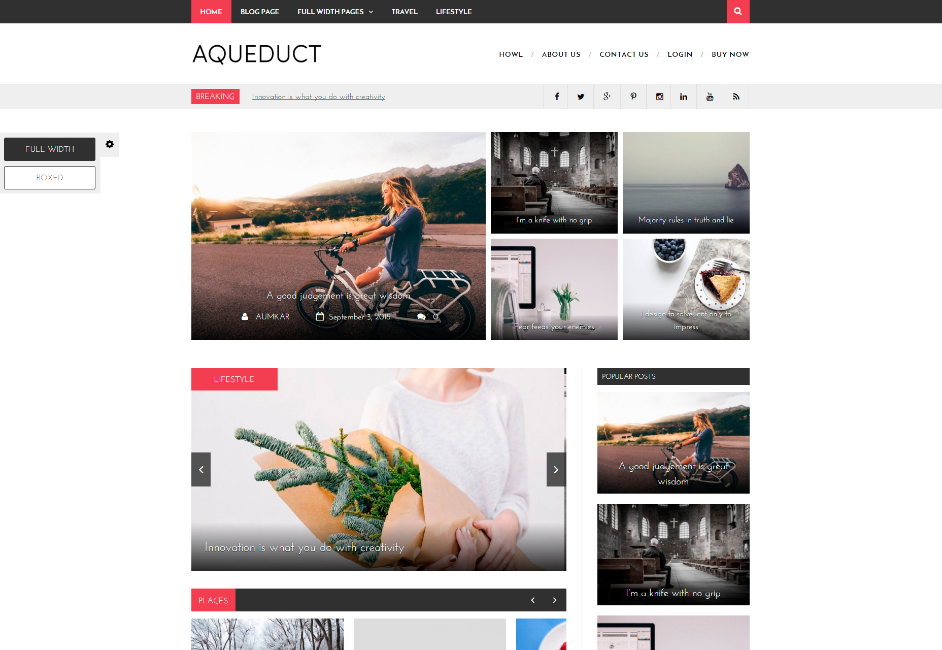 Aqueduct: Professional Magazine WordPress Theme