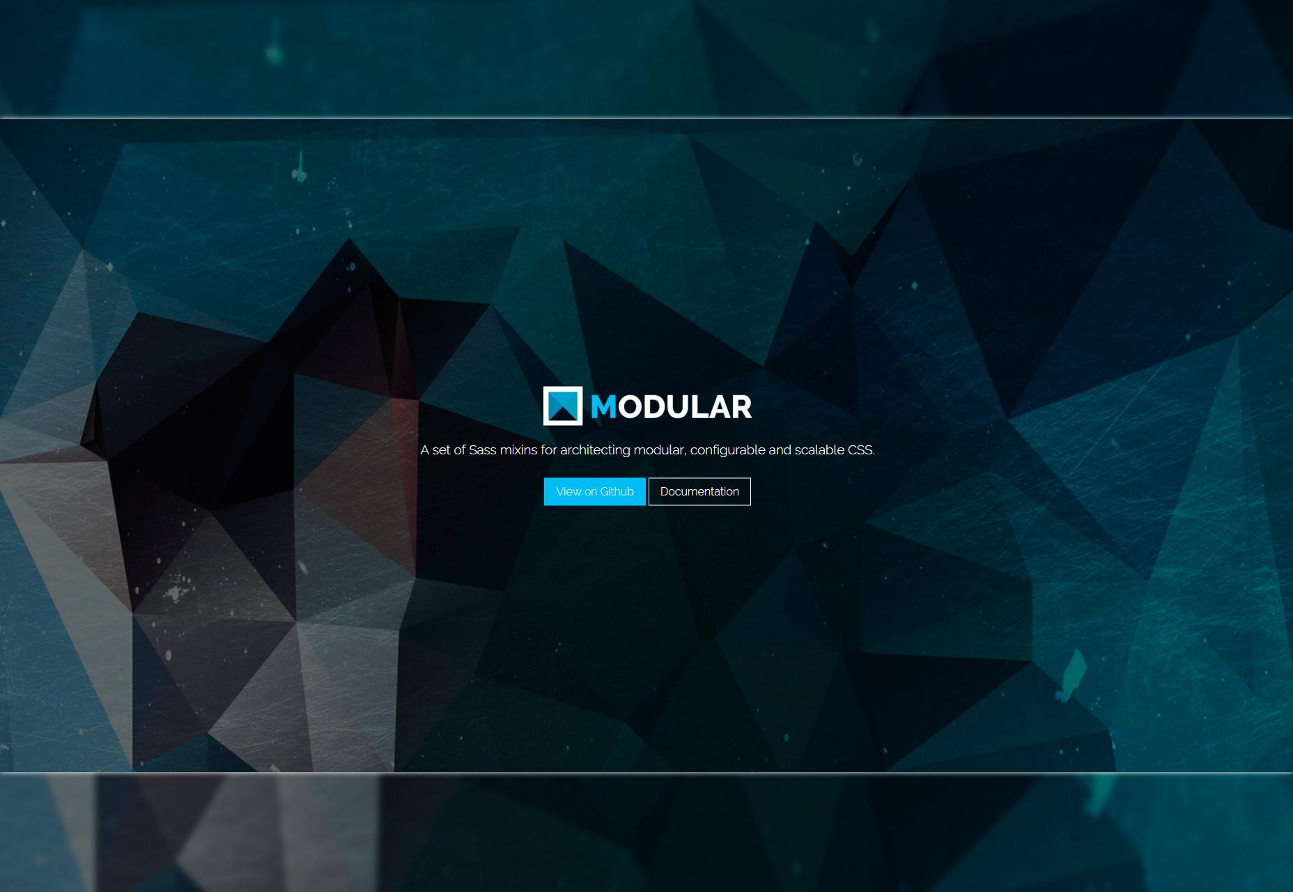 Modular: A Front-end Sass & jQuery Framework
