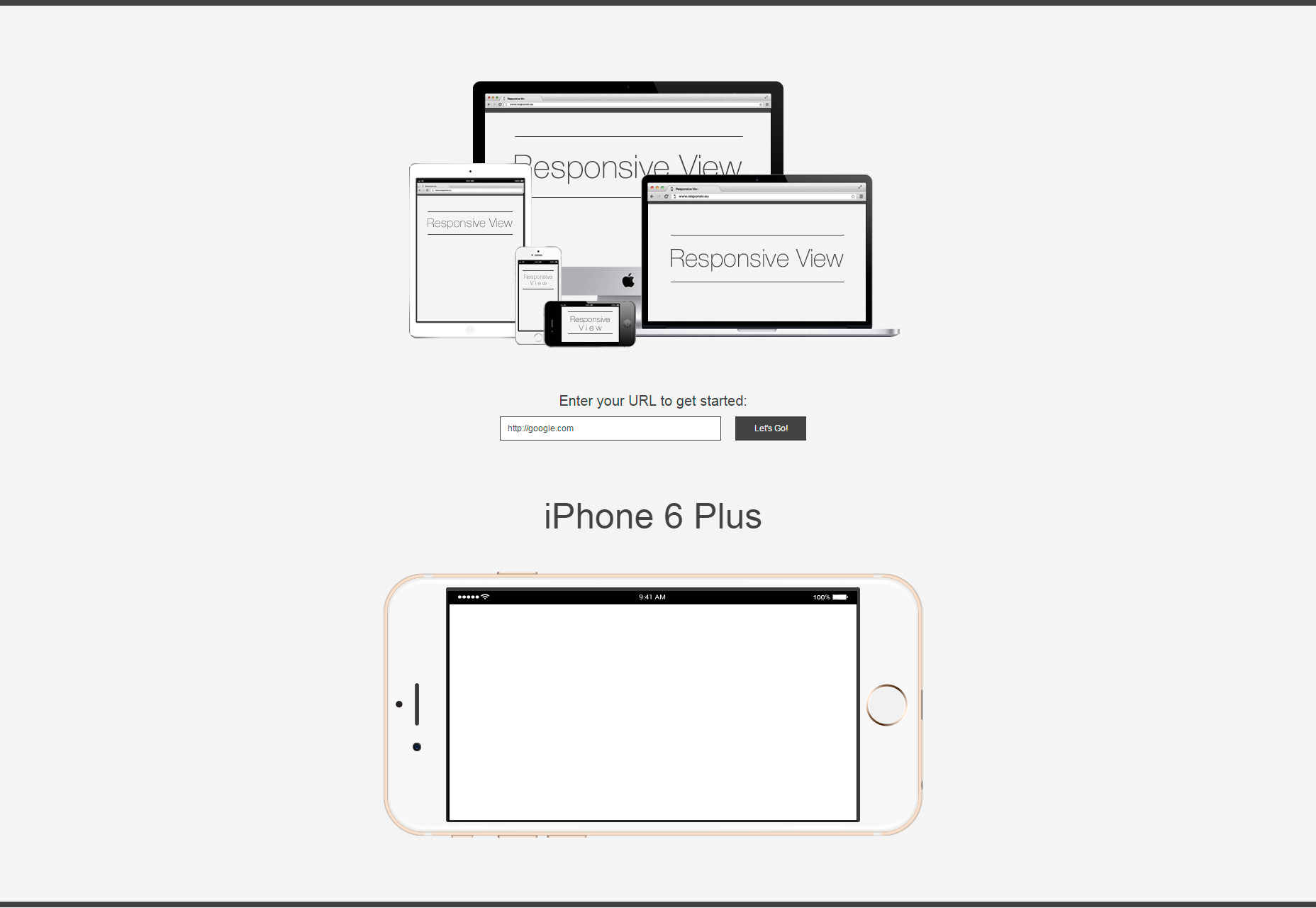 Responsive View: A Cross-device Website Displaying Tool
