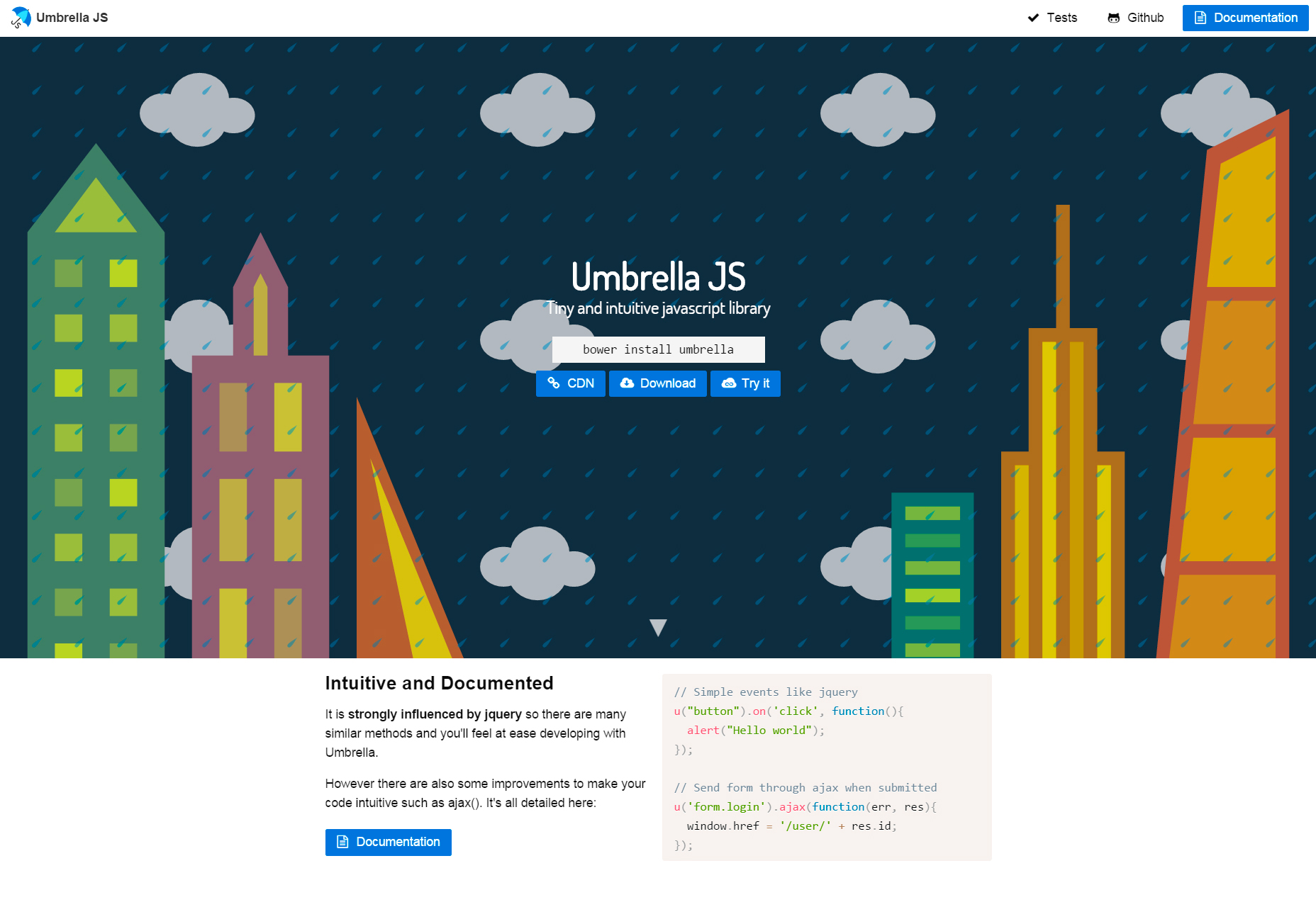 Umbrella JS: Tiny & Intuitive JavaScript Library