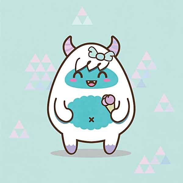 User Irbd commented with their own sweet take on a cute yeti tutorial by Amanda Tepie