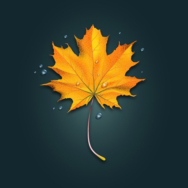 JooYoonChung commented with their own take on a realistic fall leaf tutorial by Iaroslav Lazunov