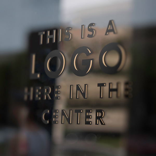 Free Window Pane Logo Mockup