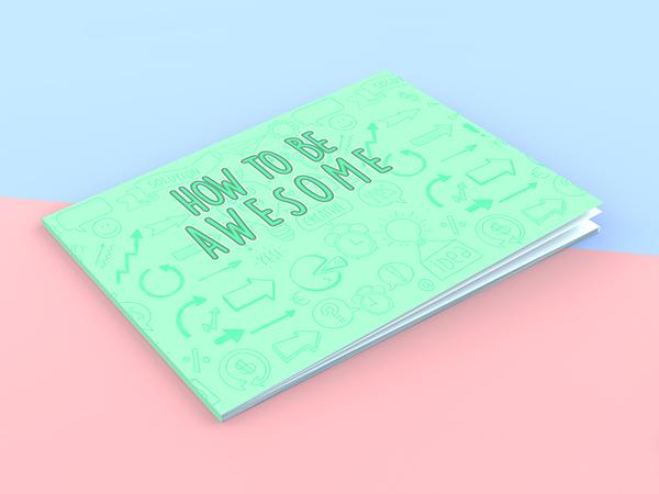 Free Landscape Book Cover Mockup