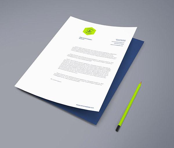 Free A4 Paper PSD Mockup