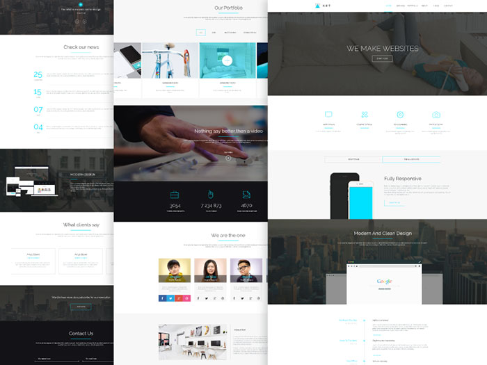 Ket Single Page PSD Template