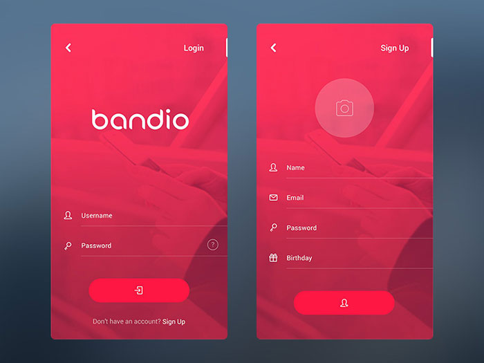 Bandio App Login & Sign Up