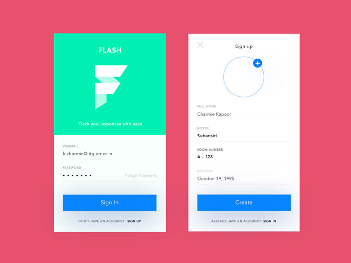 Flash - Sign Up