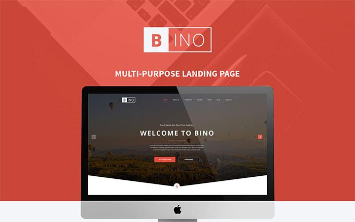 Bino Landing Page PSD Template