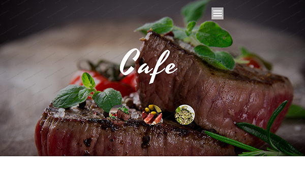 1. free HTML5 template for your cafe