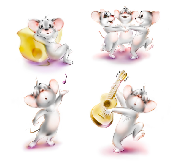 Mouse Character Design and Dynamic Poses