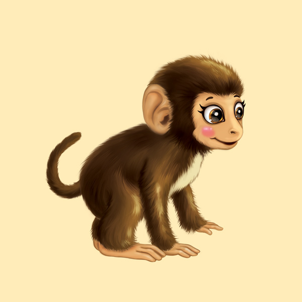 Young Monkey Character Design