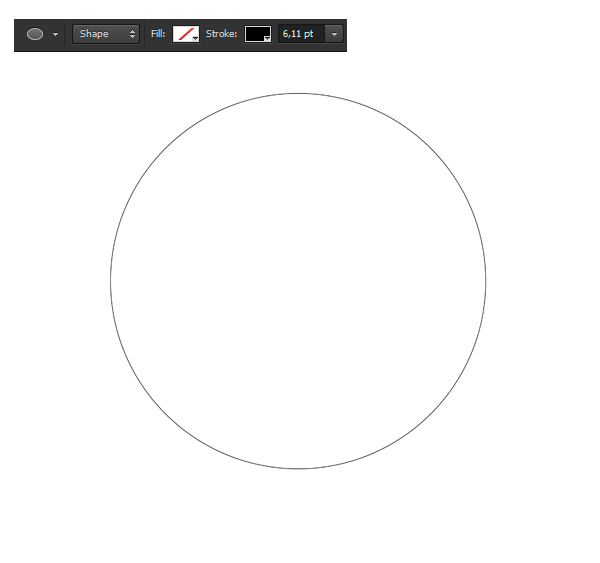 how to draw acoircle outline photoshop