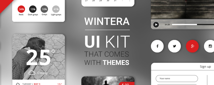 Wintera Free UI Starter Kit PSD