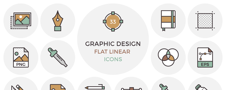 Flat Graphic Design Icons EPS AI PSD PNG SVG