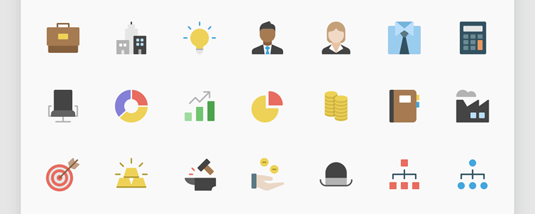 Nucleo Flat Business Icon Set AI SVg