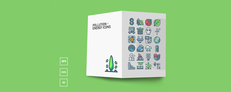 Pollution Energy Icons AI EPS SVG