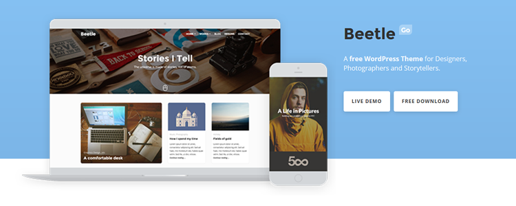 Beetle Go Free WordPress Theme for Creatives WordPress
