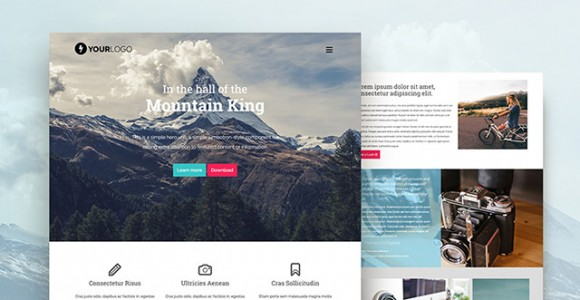 Mountain King Bootstrap Template HTML